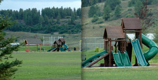 Playground for the kids at Yamaguchi Park next to Cobblestone Townhome Community in Pagosa Springs, CO